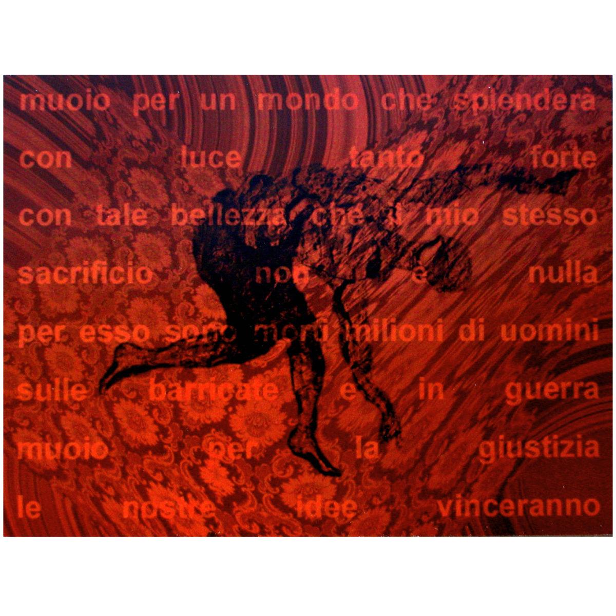 """""""Le Nostre Idee Vinceranno"""", testo critico di Efthalia Rentetzi, 2002, ita"""