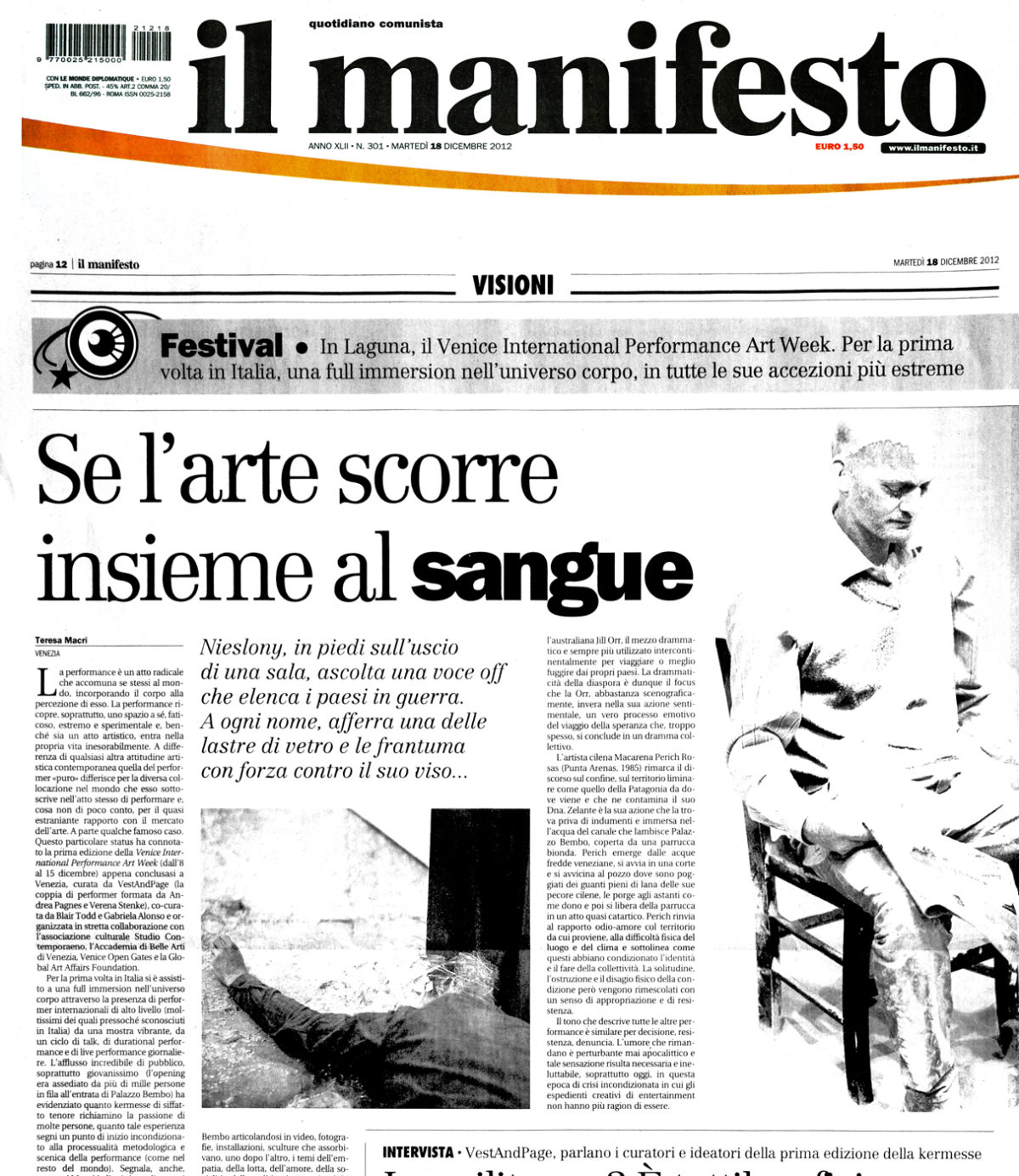 Il Manifesto | 18.12.2012